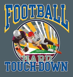 Touchdown football player vector