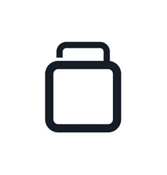 travel logo with suitcase logo design vector image