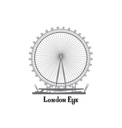 Travel london city famous place english landmark vector