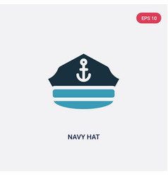 Two color navy hat icon from people skills vector
