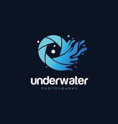 Underwater photography logo design symbol icon vector