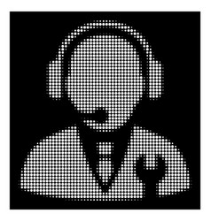 white halftone service manager icon vector image