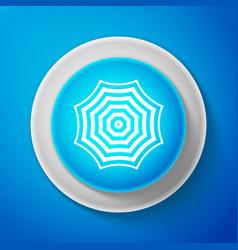 white sun protective umbrella fo beach icon vector image