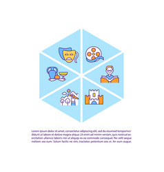 Works subject to copyright law concept line icons vector