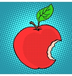 Bitten red Apple vector image