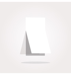 Blank sticker with curled corner on web vector image vector image