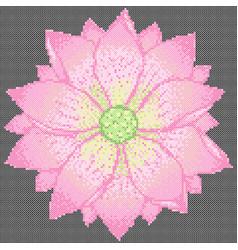 cross stitch lotus vector image vector image