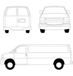 Delivery van lines vector image vector image