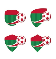 football Badge 7 vector image