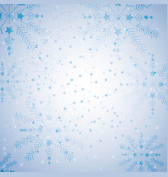 Happy merry christmas snowflake background vector