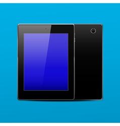 Tablet pc black vector image vector image