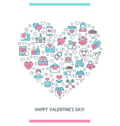 valentines day banner 2 vector image vector image