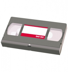video tape object vector image vector image