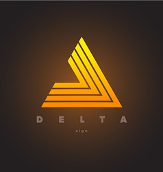 Abstract triangle logo template Delta sign vector image