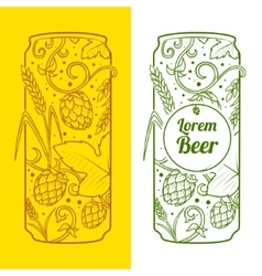 Beer can abstract ornament vector image vector image