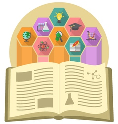 Book as a Source of Knowledge vector image vector image