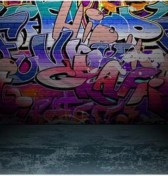 Graffiti wall urban street art painting vector image vector image