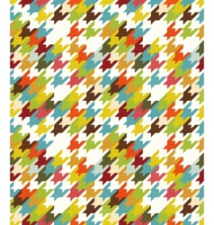 Houndstooth seamless vector image vector image