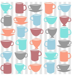 kitchen cups vector image vector image