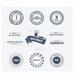 Labels vip vector image