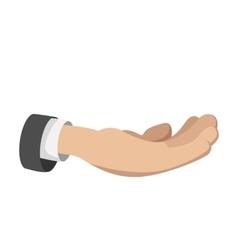 Man open hand cartoon icon vector image
