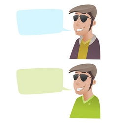 Man with Flat Caps vector image vector image