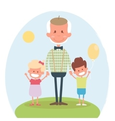 Senior people happy leisure time with vector image