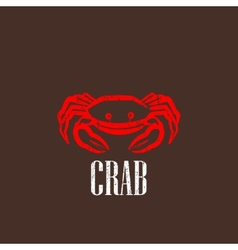 vintage with a red crab vector image vector image