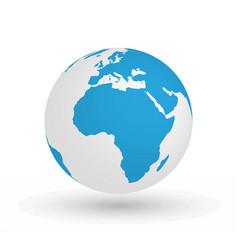 3d earth globe eps10 of vector image