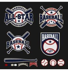 Baseball badge logo design for logos vector