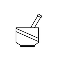 chemical mortar icon vector image