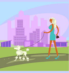 dog and owner look alike vector image