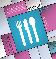 fork knife spoon icon sign Modern flat style for vector image