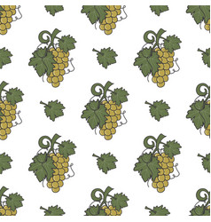 grape vine and leaf icons seamless wallpaper wine vector image