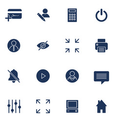 modern flat icons collection interface vector image vector image