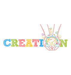 concept of child development creativity vector image vector image