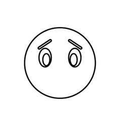 Emoticon without mouth icon outline style vector image vector image
