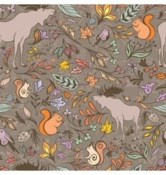 Fall Forest Pattern vector image