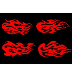 fire flames in tribal style vector image