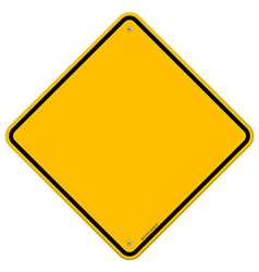 Isolated Blank Yellow Sign vector image vector image