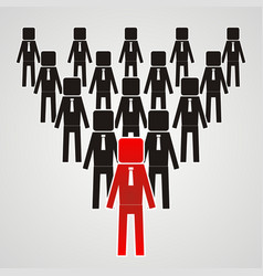 leadership concept - group of workers should be vector image