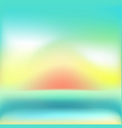 mesh background with green and orange and sunrise vector image vector image