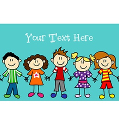 Seamless kid banner vector image vector image