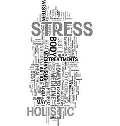 your stress levels text word cloud concept vector image