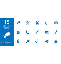 15 astronomy icons vector