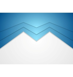 Abstract blue arrow concept background vector