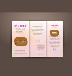 abstract business tri fold leaflet flyer design vector image