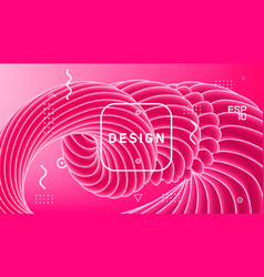abstract design gradient geometric wavy vector image