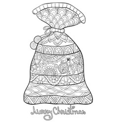 adult coloring bookpage a cute sack vector image