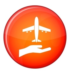 Airplane and palm icon flat style vector